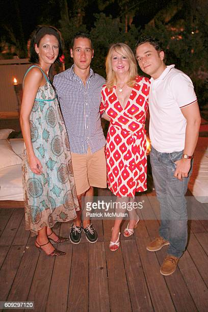 Elizabeth DiPace Jose Ramon Reyes Deborah Slack and Peter Herink attend Launch of Diane von Furstenberg Soleil Swim and Beach Collection at The...