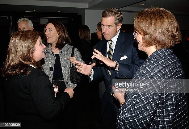 Elizabeth Edwards, Jane Stoddard Williams, Brian Williams and Ann Moore, Chairman and CEO of Time Inc. Attend TIME's Person of the Year Luncheon at...