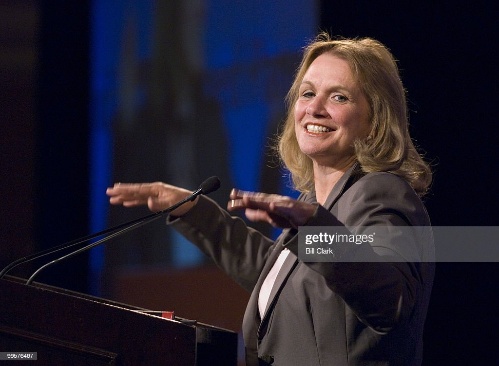 Elizabeth Edwards, wife of 2008 presidential candidate John Edwards, D-N.C., speaks at the Planned Parenthood Action Fund Public Affairs Retreat and Roundtable event at the Ritz-Carlton Hotel in Washington on Tuesday, July 17, 2007. Presidential candidates Sen. Barack Obama, D-Ill., and Sen. Hillary Clinton, D-N.Y., also spoke at the event.