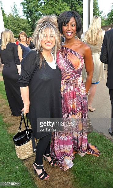 Elizabeth Emanuel and Beverley Knight attend the annual Serpentine Gallery summer party at The Serpentine Gallery on July 8 2010 in London England