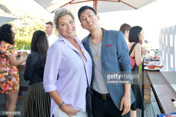Elizabeth Epie and Jake Choi attend Breguet Marine Collection Launch at Little Beach House Malibu on July 11 2019 in Malibu California