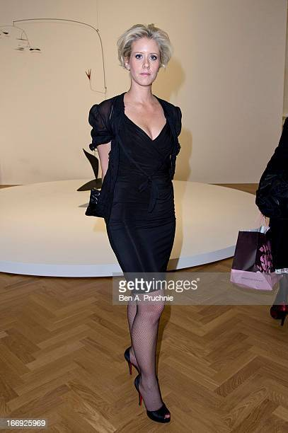 Elizabeth Esteve attends the private View and VEDay Party For Calder After The War at Pace London Gallery on April 18 2013 in London England