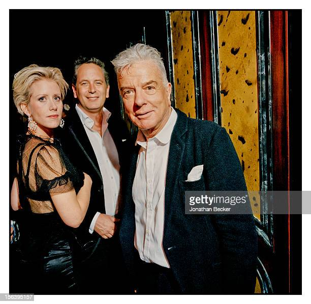 Elizabeth Esteve, Hugh Warrender and Nicky Haslam are photographed at 5 Hertford Street, which is home to the nightclub Loulou's for Vanity Fair...
