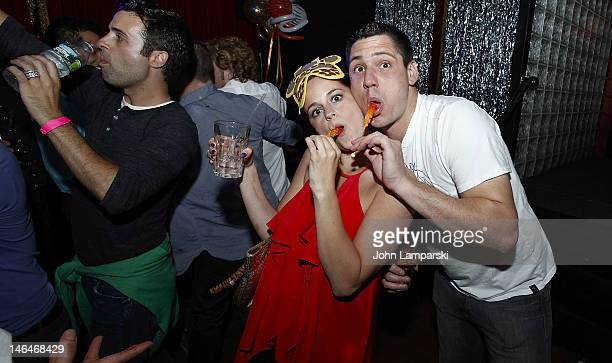 Elizabeth Fazio and Alex Carr attend Alex Carr's birthday celebration at The Stonewall Inn on June 16 2012 in New York City