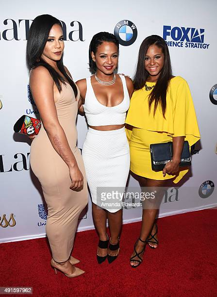 """Elizabeth Flores, actress Christina Milian and Danielle Flores arrive at the Latina """"Hot List"""" Party hosted by Latina Media Ventures at The London..."""