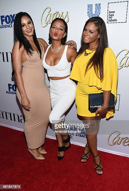 Elizabeth Flores actress Christina Milian and Danielle Flores arrive at the Latina Hot List Party hosted by Latina Media Ventures at The London West...