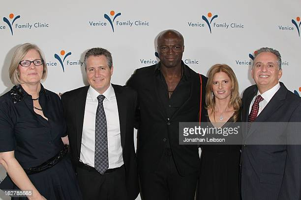 Elizabeth Forer Jeff Nathanson Seal Julie Liker and Harley Liker attend the Silver Circle Gala at the Beverly Wilshire Four Seasons Hotel on February...