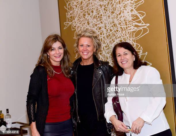 Elizabeth Foster Guest and Anna Fioriti attend Frette Celebrates Bjorn Bjornsson at Private Residence on February 21 2018 in New York City