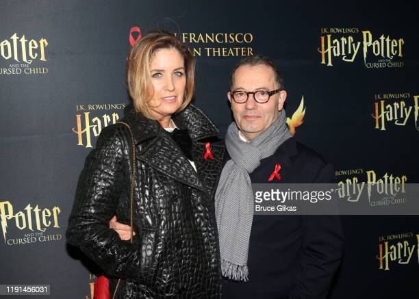 Elizabeth Gaine and Producer Colin Callender pose at the opening night of Harry Potter and The Cursed Child Parts One 2 at The Curran Theatre on...