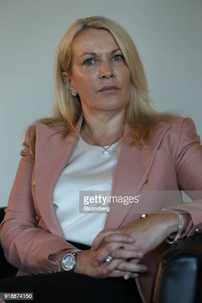 Elizabeth Gaines incoming chief executive officer of Fortescue Metals Group Ltd attends a news conference in Perth Australia on Friday Feb 16 2018...