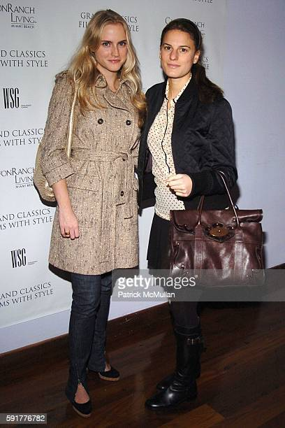 Elizabeth Gesas and Brooke Jaffe attend Grand Classics Films With Style hosted by Carolina Herrera and sponsored by WSG/Canyon Ranch Living and Harry...