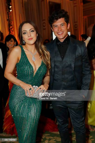 Elizabeth Gillies and Graham Phillips attend The Animal Ball presented by Elephant Family at Lancaster House on June 13 2019 in London England