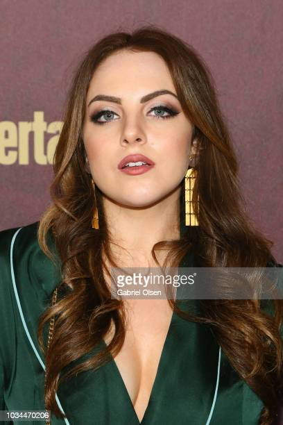Elizabeth Gillies arrives to the 2018 Entertainment Weekly Pre-Emmy Party at Sunset Tower Hotel on September 15, 2018 in West Hollywood, California.