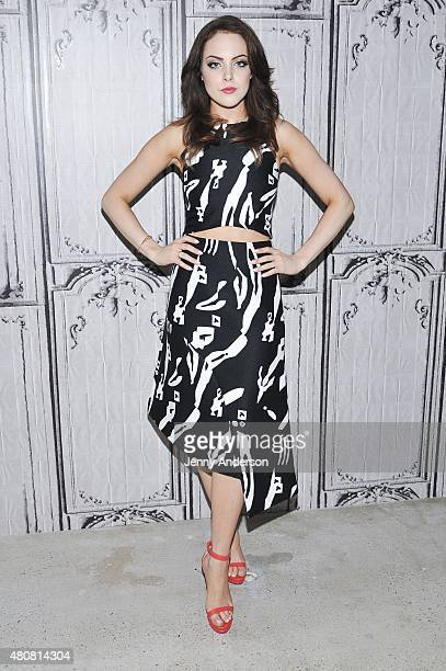 Elizabeth Gillies attends AOL BUILD Speaker Series to discuss his new show 'SexDrugsRockRoll' at AOL Studios in New York on July 15 2015