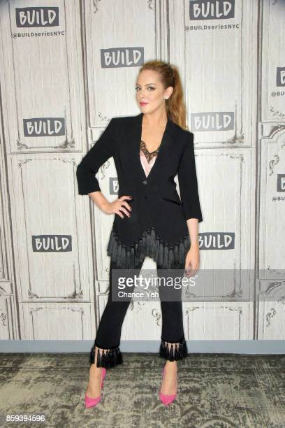 Elizabeth Gillies attends Build series to discuss 'Dynasty' at Build Studio on October 9 2017 in New York City