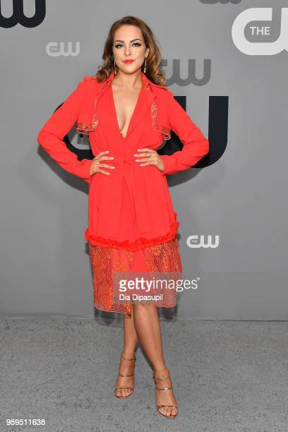 Elizabeth Gillies attends the 2018 CW Network Upfront at The London Hotel on May 17 2018 in New York City