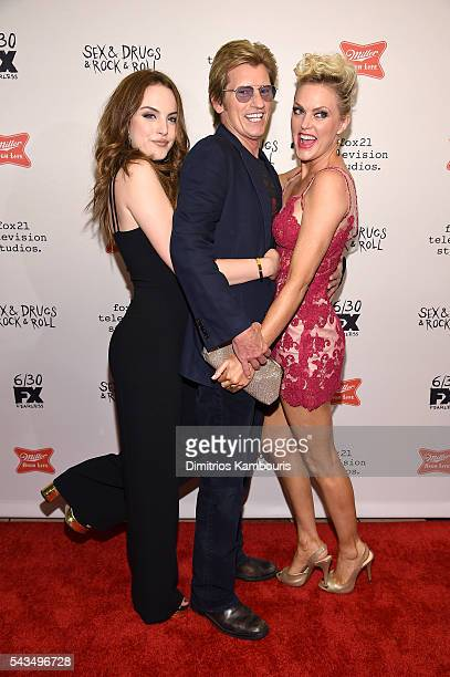 Elizabeth Gillies Denis Leary and Elaine Hendrix attend the 'SexDrugsRockRoll' Season 2 Premiere at AMC Loews 34th Street 14 theater on June 28 2016...