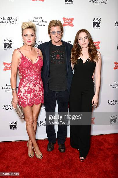"Elizabeth Gillies, Denis Leary and Elaine Hendrix attend the ""Sex&Drugs&Rock&Roll"" Season 2 Premiere at AMC Loews 34th Street 14 theater on June 28,..."