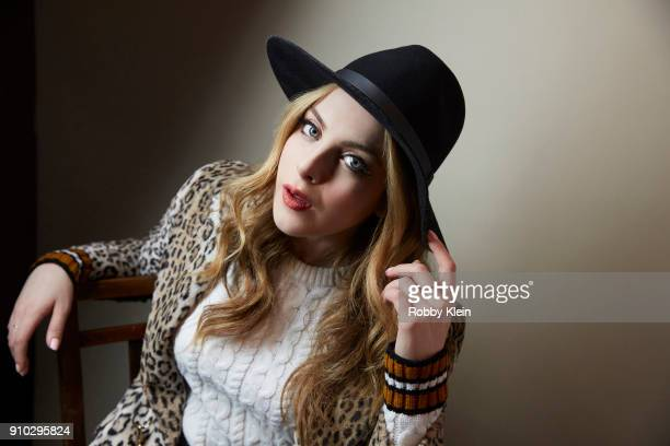 Elizabeth Gillies from the film 'Monster' poses for a portrait at the YouTube x Getty Images Portrait Studio at 2018 Sundance Film Festival on...