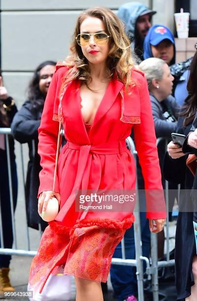 Elizabeth Gillies is seen walking in midtown on May 17 2018 in New York City