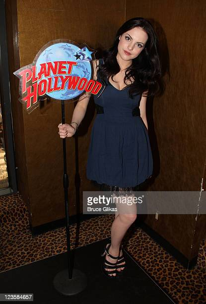 Elizabeth Gillies visits Planet Hollywood Times Square on June 8 2011 in New York City