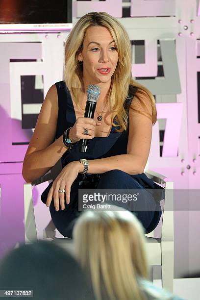 Elizabeth Gore speaks on stage during Cosmopolitan Fun Fearless Life 2015 presented by Maybelline New York in partnership with #ActuallySheCan on...