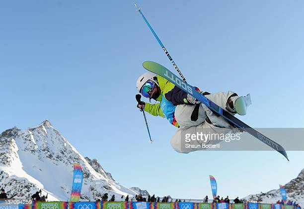 Elizabeth Gram of Austria during the Women's Freestyle Halfpipe Competion on January 15 2012 in Kuhtai Austria