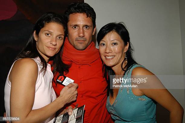 Elizabeth Guber Trek Thunder Kelly and Patti Kim attend Vanity Fair hosts a performance by the Jane Doe's at House of Campari on September 1 2005 in...