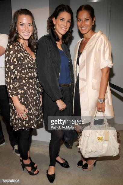 Elizabeth Guerra Amy Erbesfeld and Sandra Marinello attend LOUIS VUITTON and PARSONS Present 'RECONSTRUCTION' at Sheila C Johnson Design Center on...
