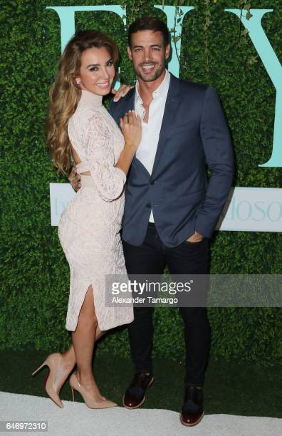 Elizabeth Gutierrez and William Levy are seen at the Elizabeth Gutierrez ELY Skin Care Line launch event at the SLS Brickell on March 1 2017 in Miami...