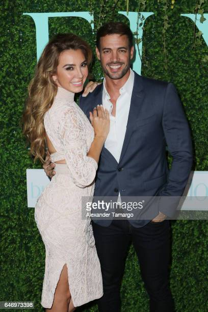 "Elizabeth Gutierrez and William Levy are seen at the Elizabeth Gutierrez ""ELY"" Skin Care Line launch event at the SLS Brickell on March 1, 2017 in..."
