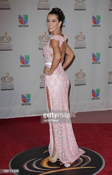 Elizabeth Gutierrez arrives at the Premio Lo Nuestro a La Musica Latina at American Airlines Arena on February 16 2012 in Miami Florida