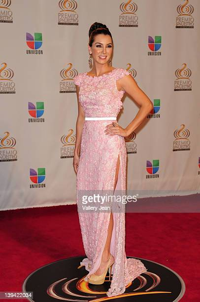 Elizabeth Gutierrez arrives at the Premio Lo Nuestro a La Musica Latina at American Airlines Arena on February 16, 2012 in Miami, Florida.