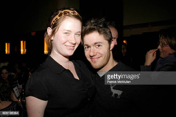 Elizabeth Hanks and Jacob Bernstein attend Dinner Party for the Tastemaker Screening of STARTER FOR 10 at Odeon on February 13 2007 in New York City