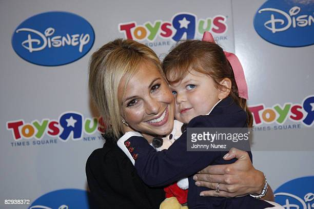 Elizabeth Hasselbeck and Grace Hasselbeck attend the Playhouse Disney unveiling of preschool toys and electronics at Toys R Us in Times Square on...