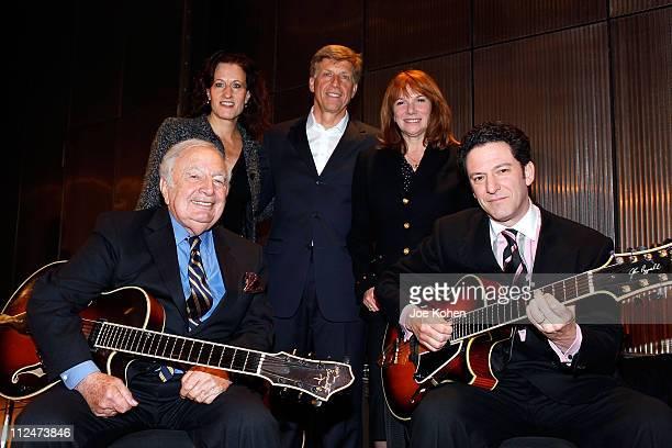 Elizabeth Healy Robert Santelli and Jaqueline Davis Guitar Players Bucky Pizzarelli and his son John Pizzarelli attend The Duke Jazz Talks at Bruno...