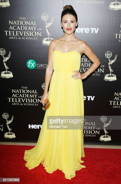 Elizabeth Hendrickson arrives at the 41st Annual Daytime Emmy Awards held at The Beverly Hilton Hotel on June 22 2014 in Beverly Hills California