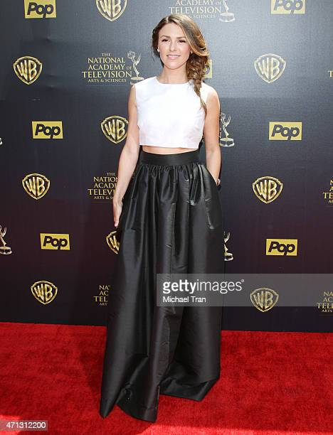 Elizabeth Hendrickson arrives at the 42nd Annual Daytime Emmy Awards held at Warner Bros Studios on April 26 2015 in Burbank California