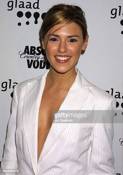 Elizabeth Hendrickson during The 13th Annual GLAAD Media Awards New York Arrivals at New York Marriott Marquis in New York City New York United States
