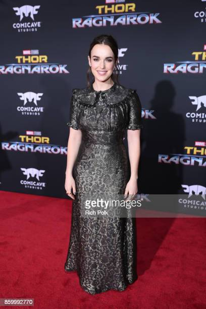 Elizabeth Henstridge at The World Premiere of Marvel Studios' Thor Ragnarok at the El Capitan Theatre on October 10 2017 in Hollywood California