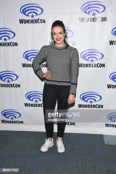 Elizabeth Henstridge attends the Agents of SHIELD press panel at day two of WonderCon 2017 the at Anaheim Convention Center on April 1 2017 in...