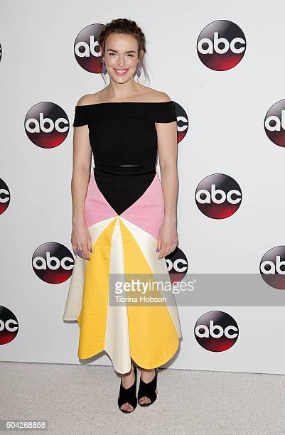 Elizabeth Henstridge attends the Disney/ABC 2016 Winter TCA Tour at Langham Hotel on January 9 2016 in Pasadena California