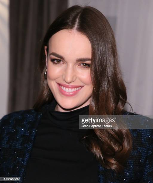 Elizabeth Henstridge attends the Wolk Morais Collection 6 Fashion Show on January 17 2018 in Los Angeles California