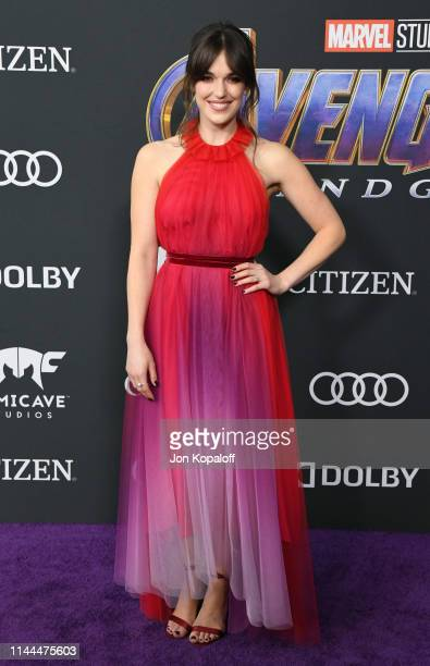 Elizabeth Henstridge attends the World Premiere Of Walt Disney Studios Motion Pictures Avengers Endgame at Los Angeles Convention Center on April 22...