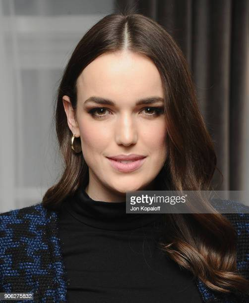 Elizabeth Henstridge attends Wolk Morais Collection 6 Fashion Show at The Hollywood Roosevelt Hotel on January 17 2018 in Los Angeles California