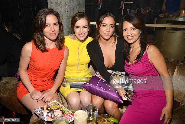 Elizabeth Henstridge Chloe Bennett and MingNa Wen attend the TV Guide Magazine's Hot List Party at Emerson Theatre on November 4 2013 in Hollywood...