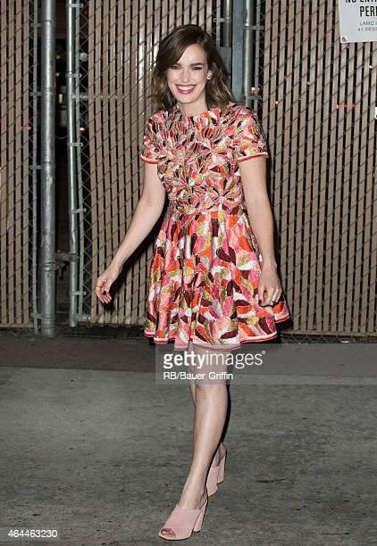 Elizabeth Henstridge is seen at 'Jimmy Kimmel Live' on February 25 2015 in Los Angeles California