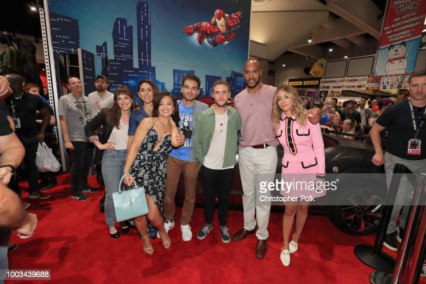 Elizabeth Henstridge Natalia CordovaBuckley MingNa Wen Jeff Ward Iain De Caestecker Henry Simmons and Chloe Bennet of Marvel's Agents of SHIELD stop...