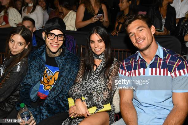 Elizabeth Hilfiger Rich Hilfiger Ally Hilfiger and Tyler Cameron attend TOMMYNOW New York Fall 2019 Front Row Atmosphere at The Apollo Theater on...