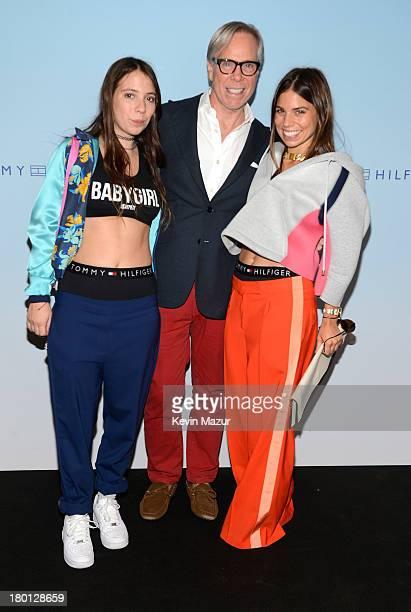 Elizabeth Hilfiger Tommy Hilfiger and Ally Hilfiger backstage at Tommy Hilfiger presents Spring 2014 Women's Collection backstage at Pier 94 on...